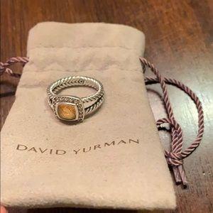 100% Authentic David Yurman citrine ring